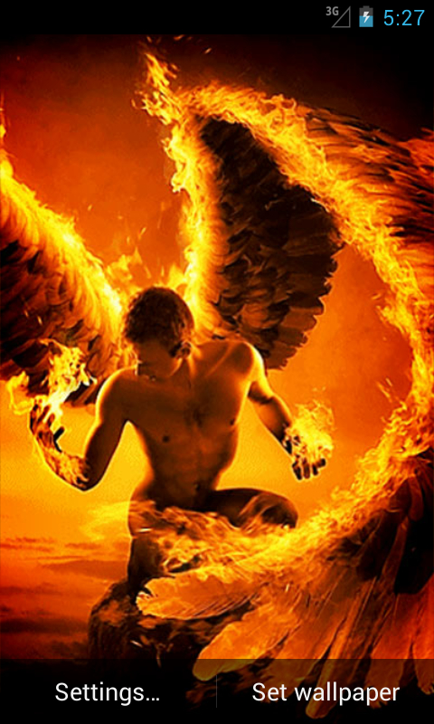 fire angel live wallpaper free app download android freeware
