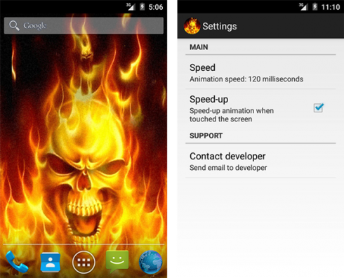 Download Fire Skull Live Wallpaper