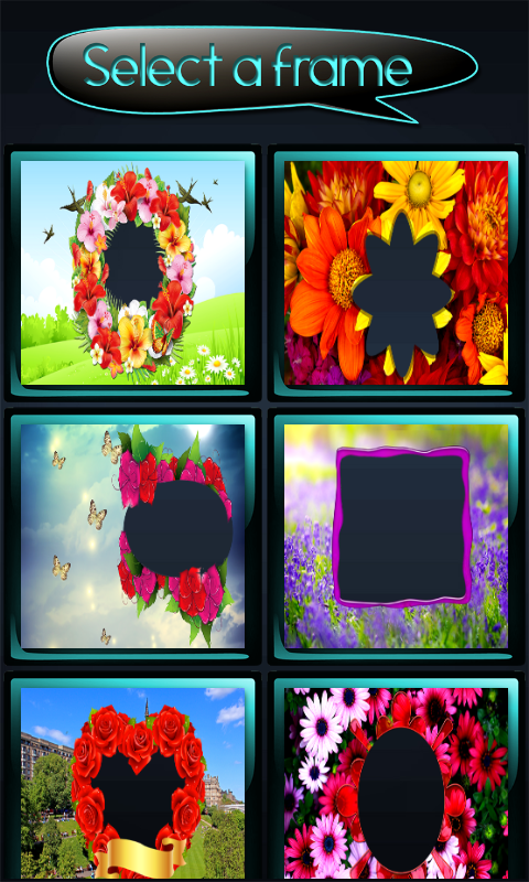 download flower photo frames