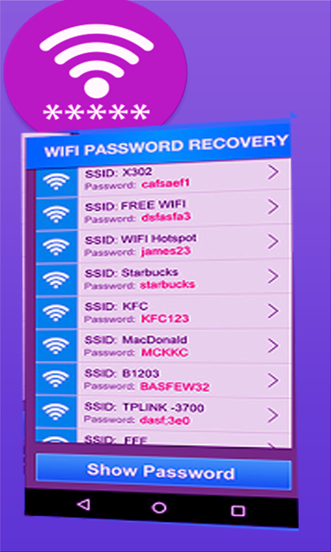 Free Wifi Password Recovery screenshot 1