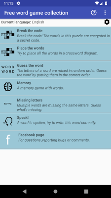 Free Word Game Collection screenshot 1