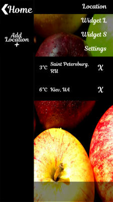 Fresh Apples Weather Clock screenshot 2