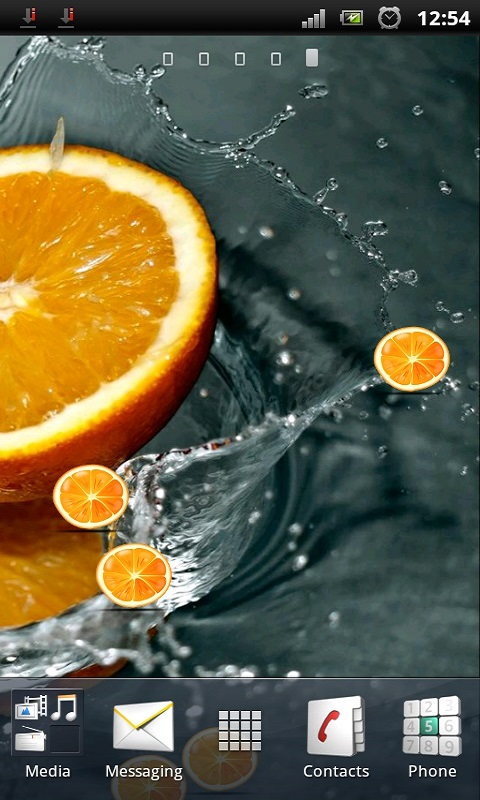 Fresh Orange Live Wallpaper free android app - Android ...