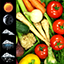 Fresh Vegetables Widget Clock