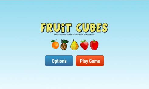 Fruit Cubes Games screenshot 1
