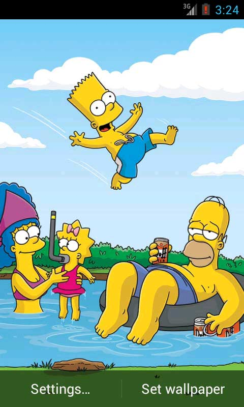 Press menu wallpapers live wallpapers funny simpsons live wallpapers
