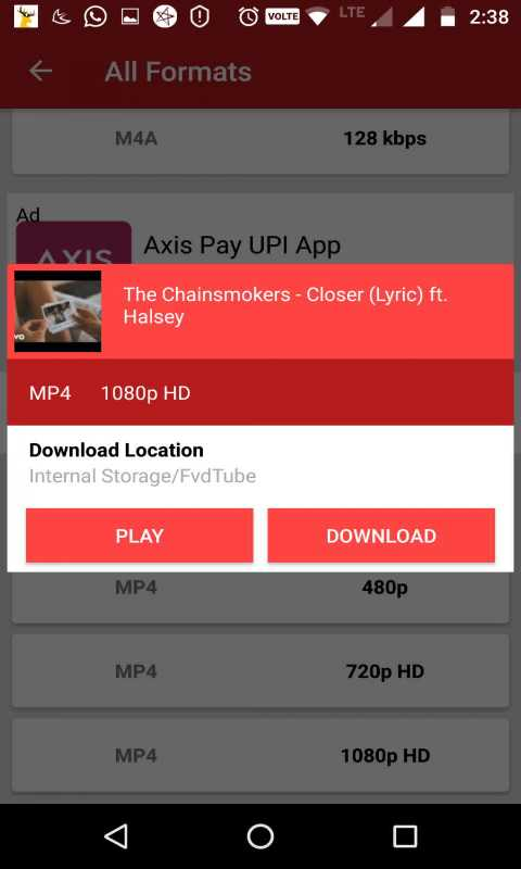 FVDTube - YouTube Video Downloader for Android - Download