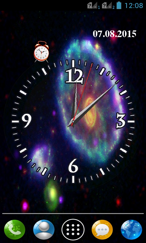 Download Galaxy Clock Wallpaper APK Free For Your Android Phone