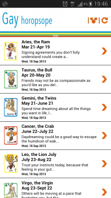 Gay horoscope