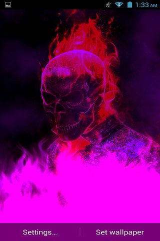 Ghost Rider 3D Remix LWP free android app - Android Freeware