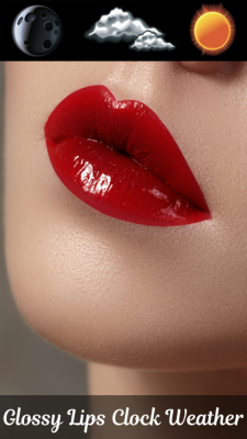 Glossy Lips Clock Weather screenshot 1