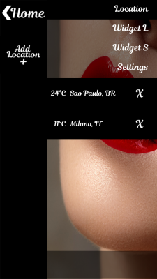 Glossy Lips Clock Weather screenshot 2