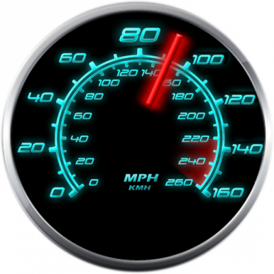 Image of  Glowing GPS Speedometer