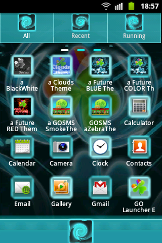 GO Launcher EX Theme Future B screenshot 2