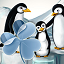 GO Launcher EX Theme penguins
