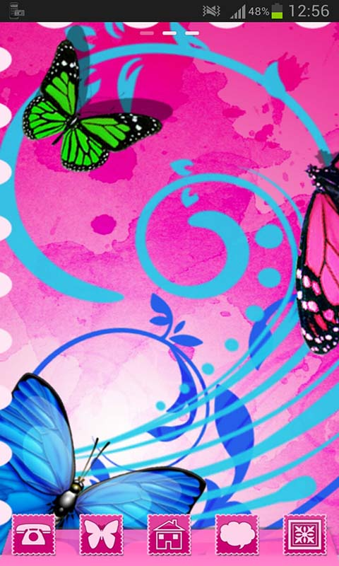 GO Launcher Theme Butterflies screenshot 1