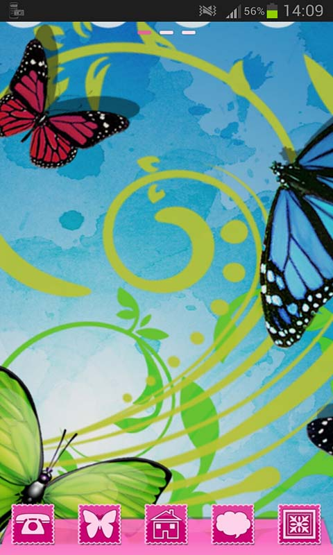 GO Launcher Theme Butterflies screenshot 2