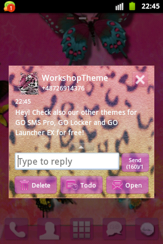 GO SMS Theme Panther screenshot 2