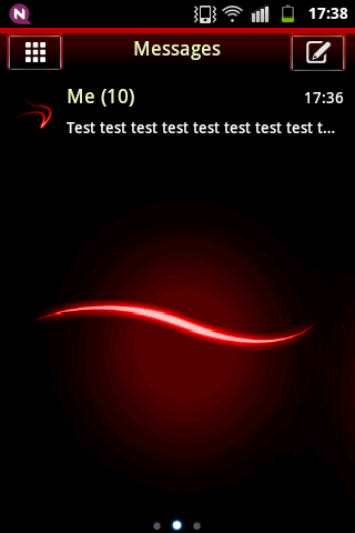 GO SMS Theme Simple Red screenshot 1