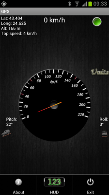 GPS Speedometer and Flashlight screenshot 1
