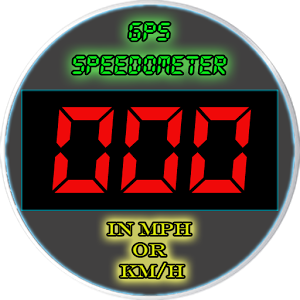 Image of GPS Speedometer in kmh and mph