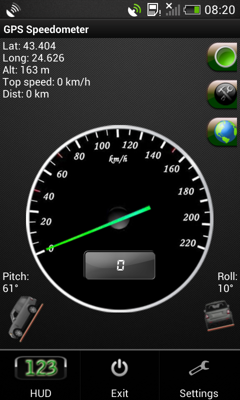 gps speedometer in kmh and mph android app