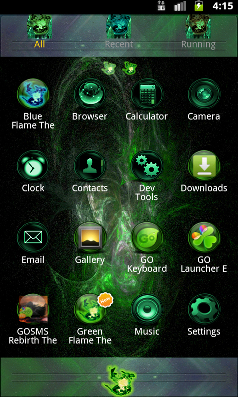 green flame go theme android app apk by hs314