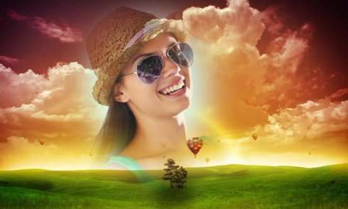 Green Hill Photo Frame free APK android app - Android Freeware