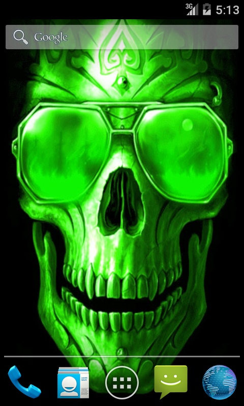Green Skull Live Wallpaper screenshot 1