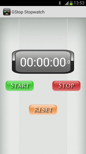 GStop Stopwatch - Chronometer for Android - Download
