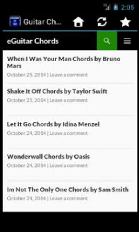 Guitar Chords And Lyrics free APK android app - Android Freeware