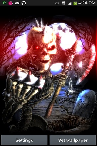 Halloween Blood Skeleton Live Wallpaper Android App APK by ...