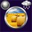 Download Hay Bales Clock Weather Widget for Android phone
