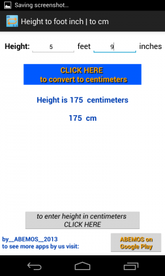 Height Converter to feet inches and cm screenshot 2