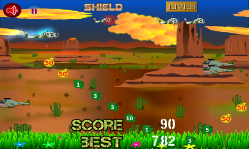 Helicopter Flying Desert screenshot 1