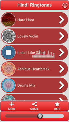 Hindi Ringtones Free screenshot 1