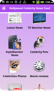 Hollywood Celebrity News Tracker screenshot 1