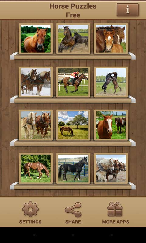 Horse Puzzles Free screenshot 1