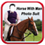 Image of Horse With Man Photo Suit HD