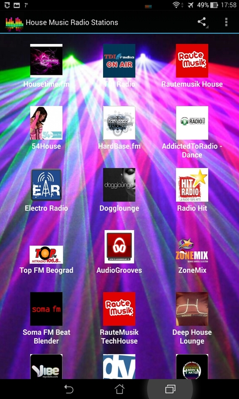 House music radio stations free android app android freeware for House music radio