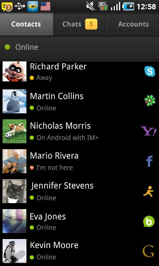 IM plus All-in-One Messenger screenshot 2