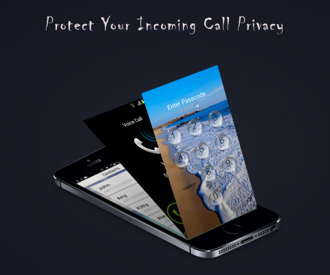 Incoming Call Pin Locker screenshot 1