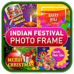 Image of Indian Festival Greetings Photo Frame