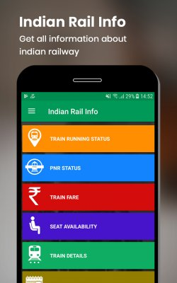 Indian Rail Info screenshot 1