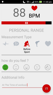 Instant Heart Rate Monitor screenshot 2
