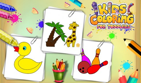 Kids Coloring For Toddlers free android app - Android Freeware
