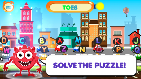 Kids Word Scramble Game screenshot 1