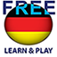 Learn and play. German free icon
