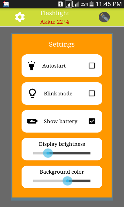Led HD Flashlight App For Android screenshot 2