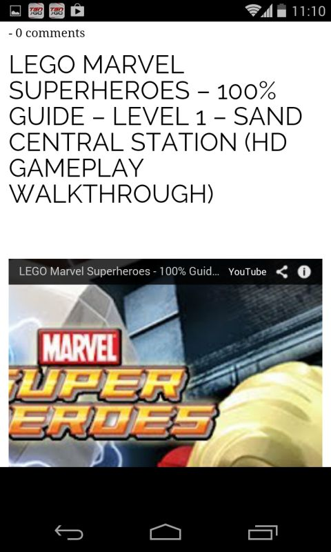 Lego Marvel Super Heroes Walkthroughs free android app - Android ...